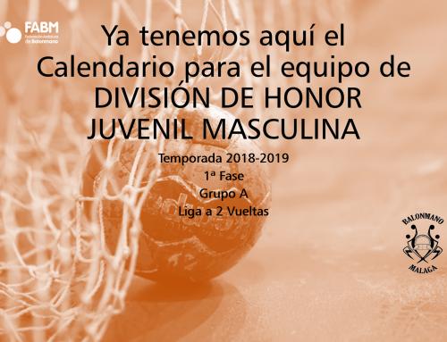 Calendario del equipo de División de Honor Juvenil Masculina