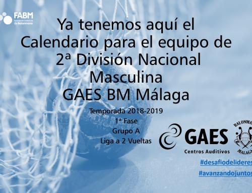 Calendario del equipo de 2ª División Nacional